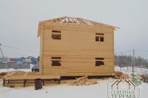 Стропильная система дома из проф. бруса 150х200 в 2 этажа