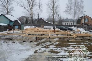 Дом строится по проекту ДБ-54 из нашего каталога
