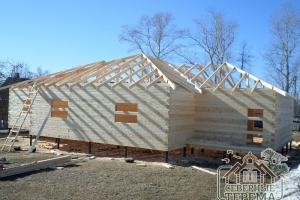 Строительство дома из бруса по проекту ДБ-54