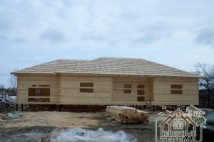 Дом по проекту ДБ-54 готов под покрытие крыши и усадку