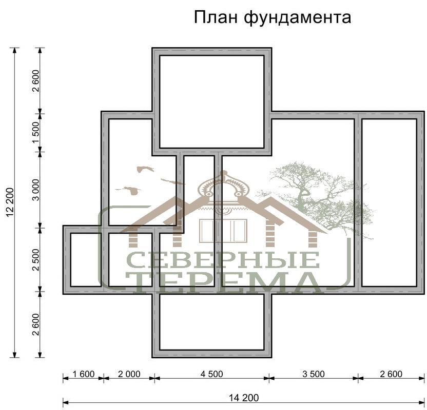 План Дома Одноэтажного 12Х14 Фото