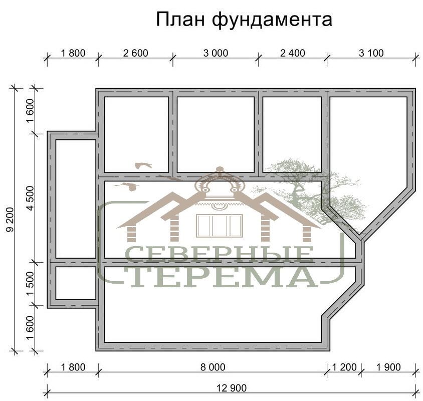 Дом 9 на 12 планировка с мансардой фото - 5