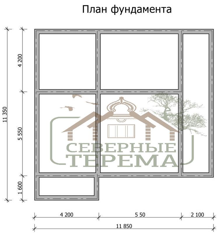 Проект дома из бруса 11 на 11 с балконом - планировка, цена .