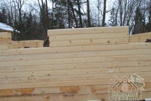 Строительство дома ведется в Рузском районе Московской области