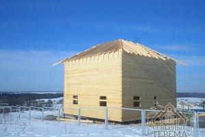 Установили стропила 150х50 под четырехскатную крышу