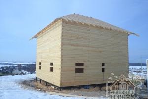 """Крыть крышу будем рубероидом, временный вариант """"под усадку"""""""