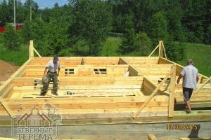 Стройка дома из бруса