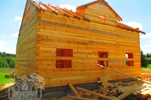Дом из бруса 8х9 с кукушкой