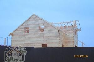 А так наш строящийся новый дом выглядит со стороны дороги