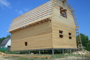 Обрешетка крыши с гидроизоляцией