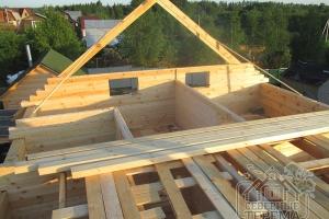 Начинаем сборку крыши проекта ДБ-1