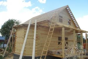 Крыша готова. Осталось только положить металлочерепицу