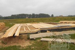 Общий вид на фундамент проекта ДН-91