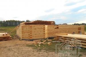 Подготовка материала для строительства верхнего этажа