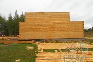 Вид сзади на дом по нашему проекту