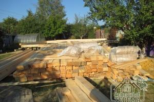Для строительства данного дома выбран профилированный брус 195х145