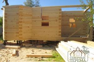 Внешний вид тамбура и крыльца по проекту дома снаружи