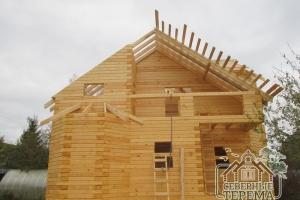Монтаж обрешетки крыши из обрезной доски 150х25 мм
