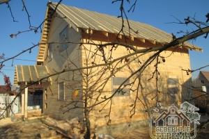 Деревянный дом из профилированного бруса по проекту Заказчика, построенный компанией