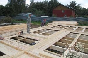 Строим 3 дома по проекту ДН-44 на 1 участке на ленточные фундаменты