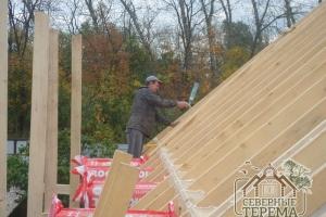 Доставлен утеплитель и металлочерепица для 1 дома, кроем крышу
