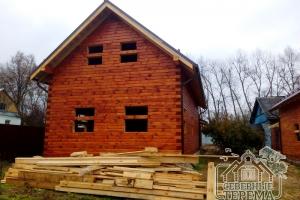 По проекту дом имеет 3 спальни, кухню-гостиную, котельную и санузел