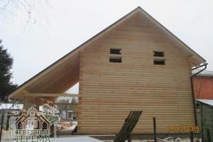 Дом из профилированного бруса 150х200 полукруглого