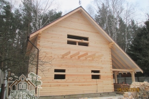 Деревянный дом по проекту ДН-56, декабрь 2015 г.