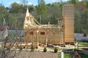 Дом из профилированного бруса с мансардой