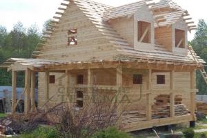Дом из проф бруса с террасой