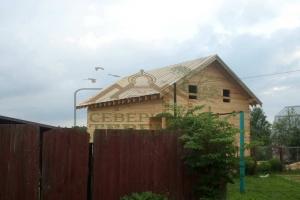 Полтора этажный дом под руберойд