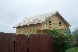 Полтора этажный дом из профилированного бруса в Клинском р-он