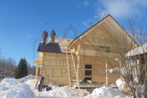кровля на деревянном доме