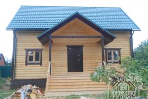 Готовый дом с отделкой, крыша металлочерепица