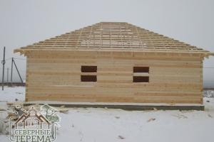 Дом из профилированного бруса 150х150 с перегородками 150х100