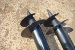 Винты металлических свай для фундамента
