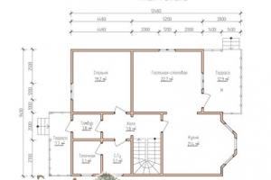 План первого этажа этого дома