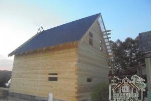 """Деревянный дом из профилированного бруса по проекту ДН-21 построен под усадку компанией """"Северные Терема"""""""