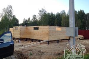 В строительстве используем профилированный брус 145х145