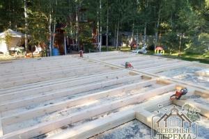 Строим дом по проекту ДУ-45 из профилированного бруса 145х195
