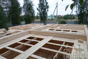 Начинаем собирать 2 этаж согласно проекту ДУ-45