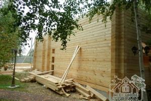 Здесь будет вход на 1 этаж деревянного дома