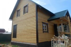 Внешняя отделка и утепление дома из профилированного бруса