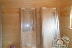 Межкомнатные двери - важная часть отделки сруба из бруса