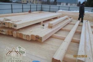 Строим дом из профилированного бруса 195х145 мм