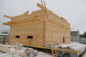 Монтируем брусовой дом согласно проекту