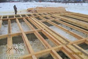 Контур ленточного фундамента и венца согласно проекту дома