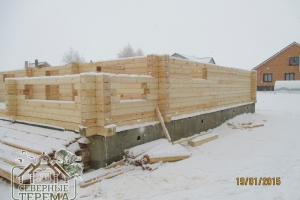 12 рядов внешних стен уже собрано