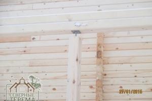 Домкрат на опоре для усадки деревянного дома