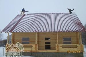 """Дом из профилированного бруса 150х200 от компании """"Северные Терема"""" готов под усадку!"""